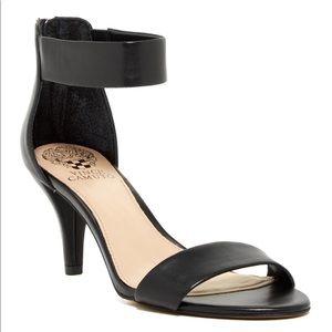 Vince Camuto Marleen Black Ankle Strap Sandals